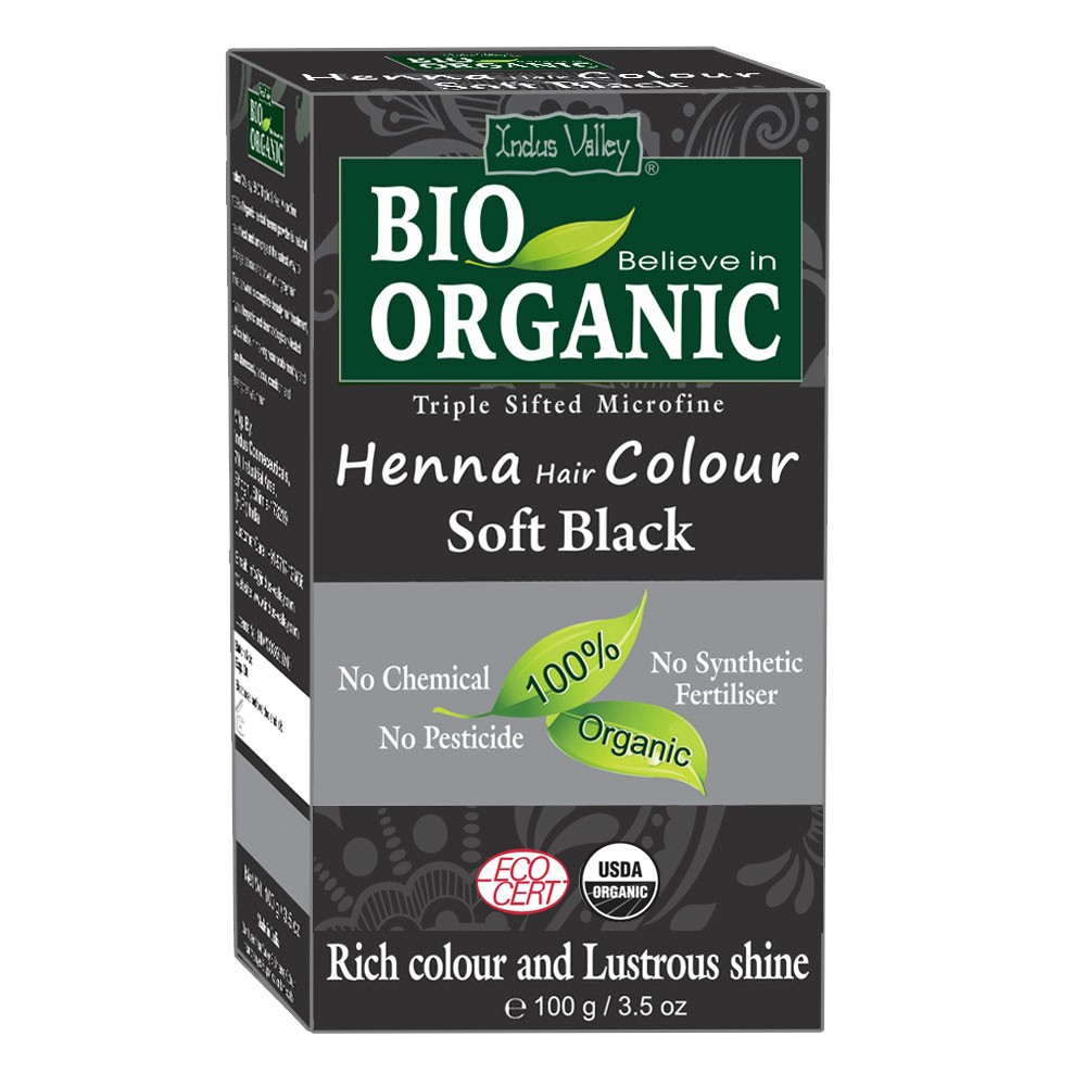 Buy Online Bio Organic Soft Black Henna Powder Certified Organic Color